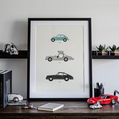 German Cars Car Art Car Print Car Poster F1 Poster Automotive Art - Rear View Prints