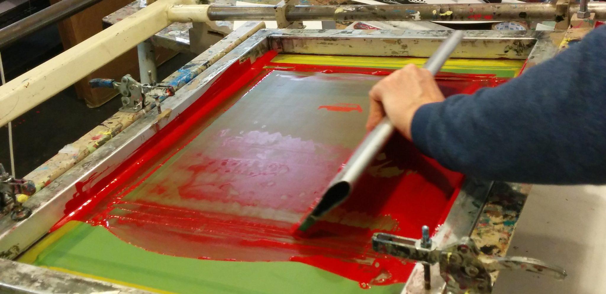 The Screen Printing Process - Rear View Prints