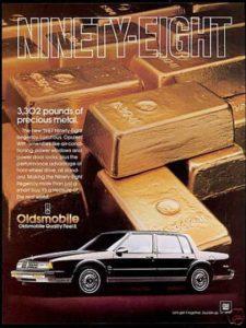 Oldsmobile Vintage Car Print - Rear View Prints