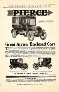 Pierce Car Ads from 1900 - Rear View Prints