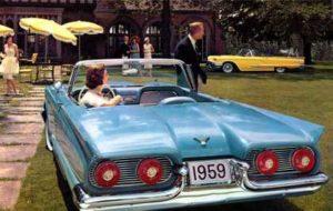 Thunderbird Vintage Car Print - Rear View Prints