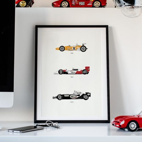 McLaren F1 Car Art Car Print Car Poster F1 Poster Automotive Art - Rear View Prints