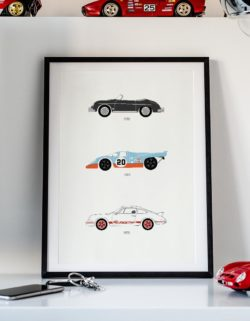 Porsche 917 Car Art Car Print Car Poster F1 Poster Automotive Art - Rear View Prints