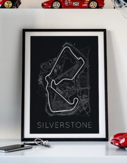 Silverstone Track Car Art Car Print Car Poster F1 Poster Automotive Art - Rear View Prints