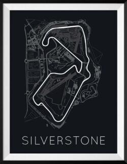 Silverstone F1 Track Poster Art Print - Rear View Prints