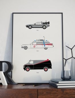 80s Movie Print Letters Lifestyle 1 – Rear View Prints