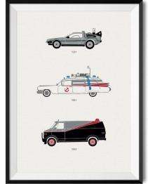 80s Movie Car Print - Rear View Prints