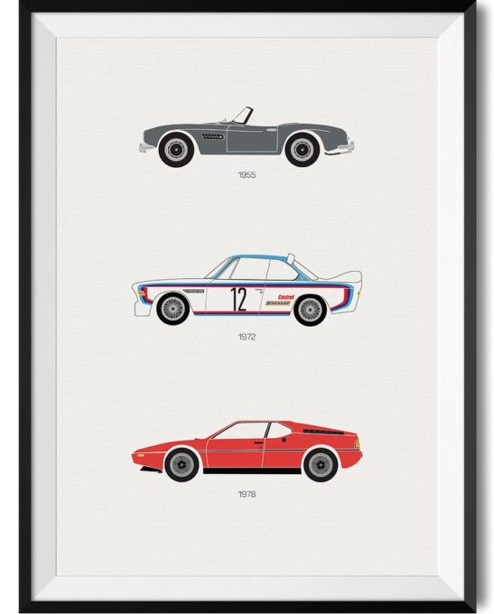BMW Car Print - Rear View Prints