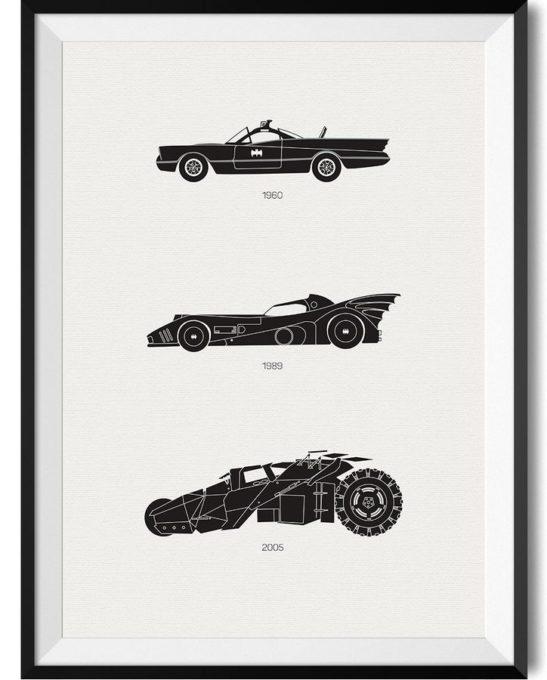 Batman Car Print - Rear View Prints