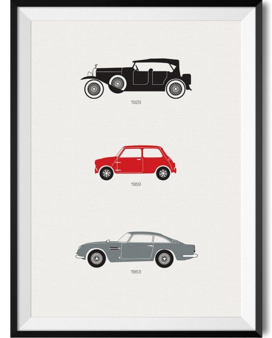 British Car Print - Rear View Prints
