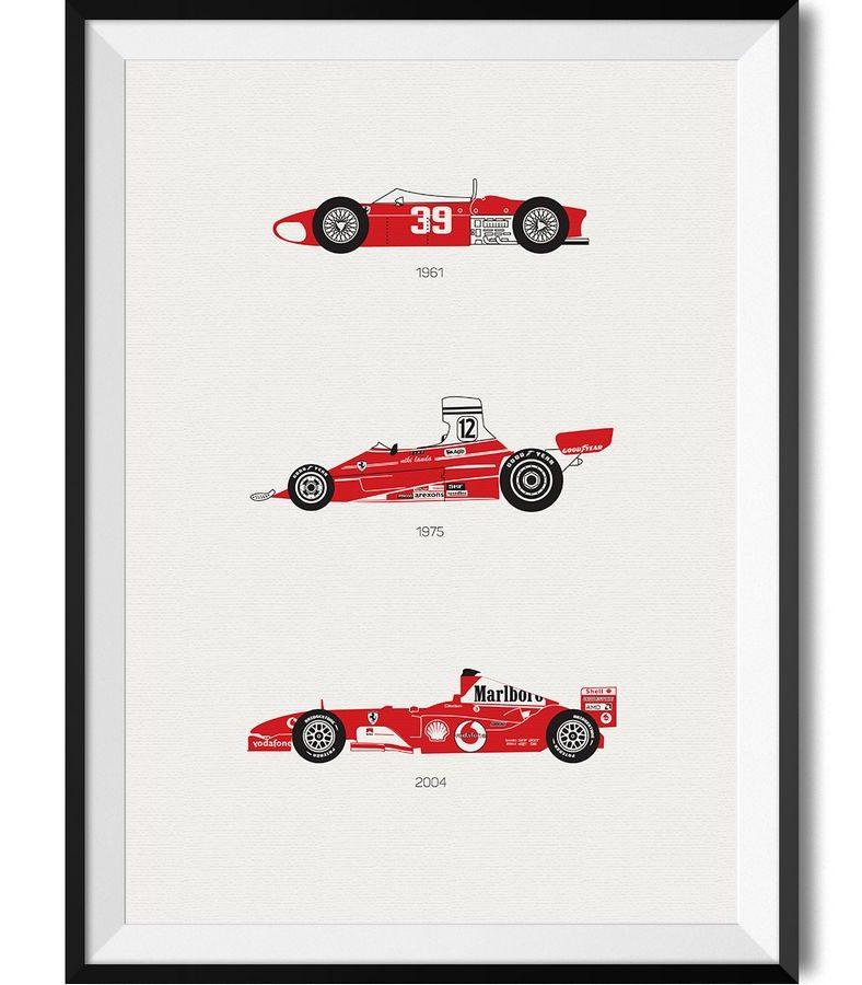 Ferrari Car Print - Rear View Prints