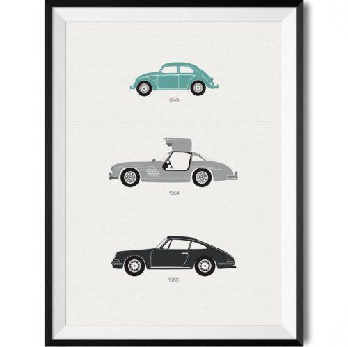 German Car Print - Rear View Prints