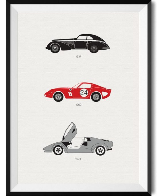 Italian Car Print - Rear View Prints