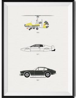 James Bond Car Print - Rear View Prints