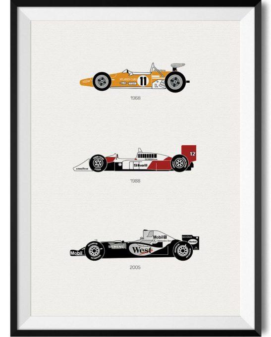 McLaren Car Print - Rear View Prints