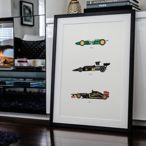 Lotus F1 Iconic Car Art Car Print Car Poster Poster Automotive Art - Rear View Prints
