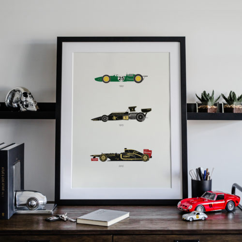 Lotus F1 Car Art Car Print Car Poster F1 Poster Automotive Art - Rear View Prints