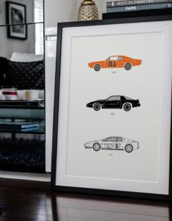 80's TV Car Art Car Print Car Poster F1 Poster Automotive Art - Rear View Prints