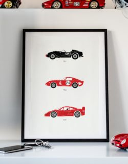 Ferrari Cars Car Art Car Print Car Poster F1 Poster Automotive Art - Rear View Prints