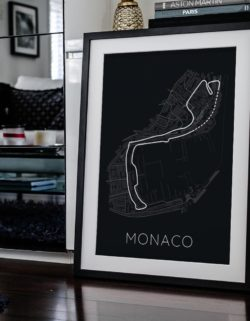 Monaco Track Car Art Car Print Car Poster F1 Poster Automotive Art - Rear View Prints