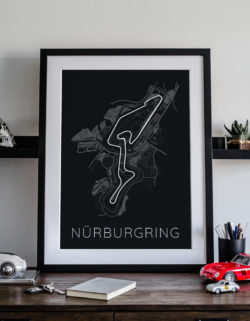 Nirgurgring Track Car Art Car Print Car Poster F1 Poster Automotive Art - Rear View Prints