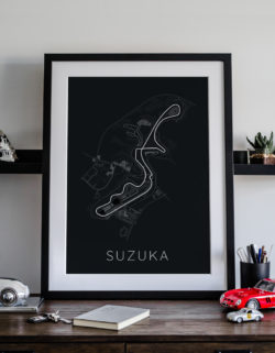 Suzuka Track Car Art Car Print Car Poster F1 Poster Automotive Art - Rear View Prints