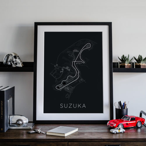 Suzuka Track Car Art Car Print Car Poster F1 Poster Automotive Art - Rear View Prints