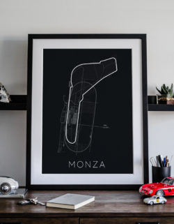 Monza Track Car Art Car Print Car Poster F1 Poster Automotive Art - Rear View Prints