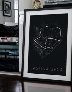 Laguna Seca Track Car Art Car Print Car Poster F1 Poster Automotive Art - Rear View Prints