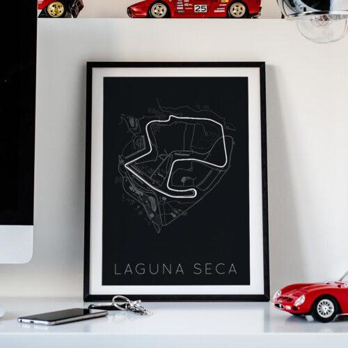 Laguna Seca Track Car Art Car Print Car Poster F1 Poster Automotive Art - Rear View Prints