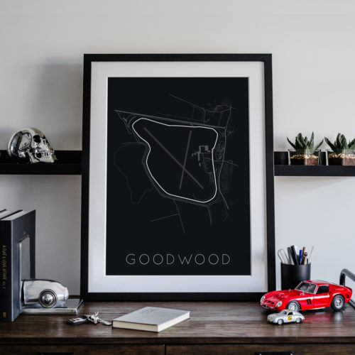 Goodwood Track Car Art Car Print Car Poster F1 Poster Automotive Art - Rear View Prints