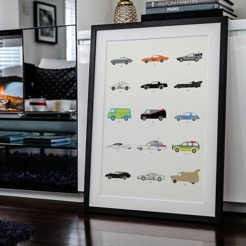 Film Classics Movie Car Poster Art Print - Rear View Prints