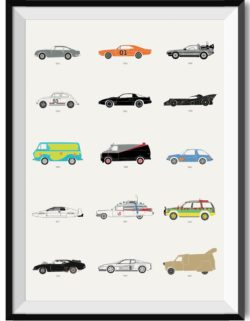 Film Classics Movie Car Poster Art Print - Rear View Prints