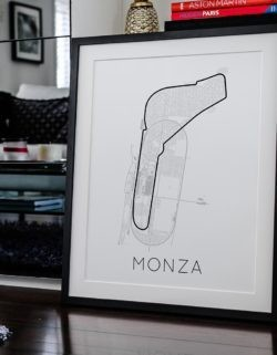Monza F1 Track Poster Art Print - Rear View Prints