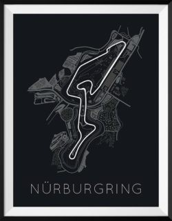 Nürburgring F1 Track Poster Art Print - Rear View Prints