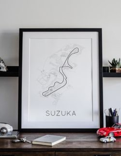Suzuka F1 Track Poster Art Print - Rear View Prints
