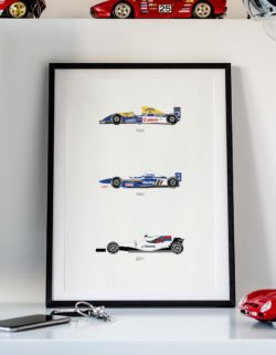 Williams F1 Car Art Car Print Car Poster F1 Poster Automotive Art - Rear View Prints