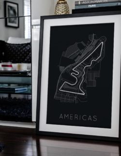 Americas Track Car Art Car Print Car Poster F1 Poster Automotive Art - Rear View Prints