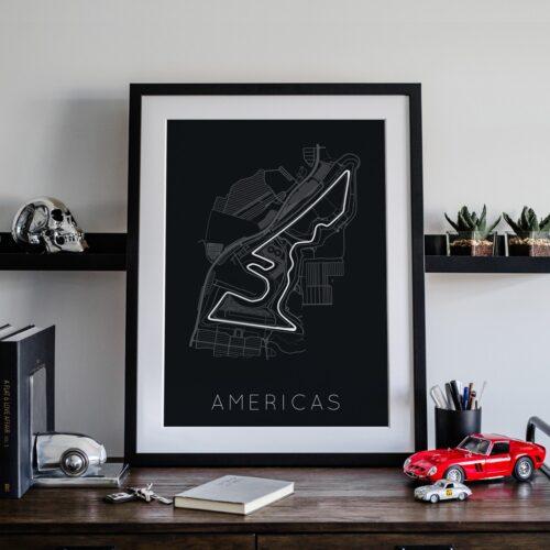 Americas Track Car Art Car Print Car Poster F1 Poster Automotive Art - Rear View Prints