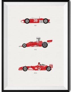 Ferrari F1 Car Art Car Print Car Poster F1 Poster Automotive Art - Rear View Prints