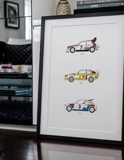 Rally Group B Car Poster Art Print - Rear View Prints