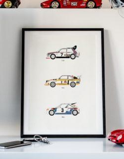Group B Rally Iconic Car Art Car Print Car Poster F1 Poster Automotive Art - Rear View Prints