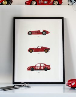 alfa romeo car poster print automotive art - Rear View Prints