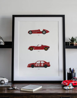 Alfa Romeo Car Art Car Print Car Poster F1 Poster Automotive Art - Rear View Prints