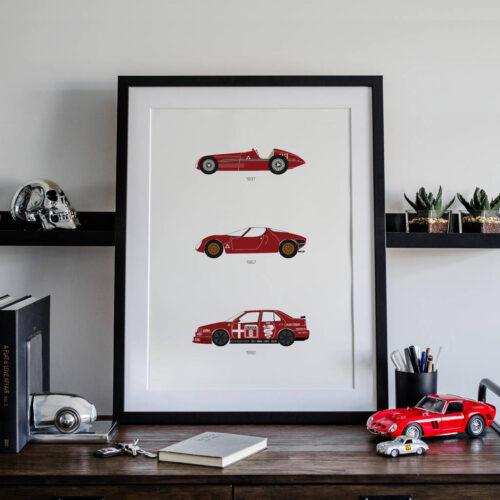 Alfa Romeo Car Art Car Print Car Poster F1 Poster Automotive Art - Rear View Prints