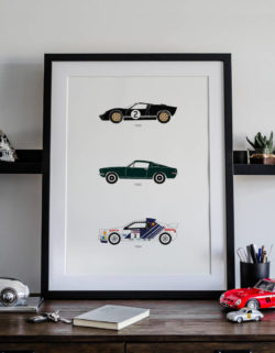 Ford Car Art Car Print Car Poster F1 Poster Automotive Art - Rear View Prints