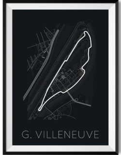 Circuit Gilles Villeneuve f1 track art poster print automotive art framed - Rear View Prints