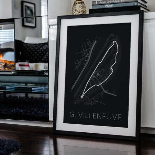 Circuit Gilles Villeneuve f1 track art poster print automotive art framed - Rear View Prints