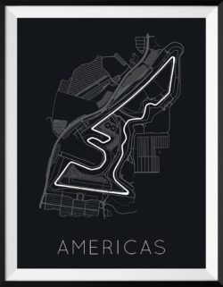 Circuit of the Americas F1 Track Poster Art Print - Rear View Prints