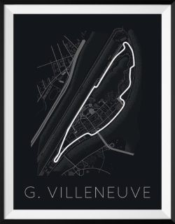 Circuit Gilles Villeneuve Track Poster F1 Art Print - Rear View Prints